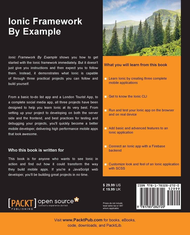 Ionic Framework By Example: Sani Yusuf: 9781785282720: Amazon com: Books