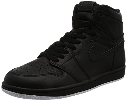 hot sale online 379c0 2f355 Image Unavailable. Image not available for. Color  Nike Jordan Mens Air  Jordan 1 Retro High OG Black White Black Basketball Shoe 9