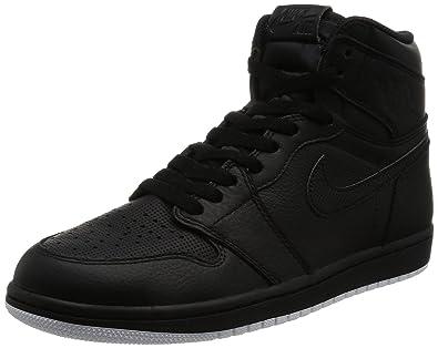 on sale 584ff 2ae30 Nike Men s Air Jordan 1 Retro Mid Basketball Shoe Black White-Black