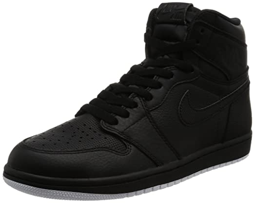 Nike Jordan Kids Air Jordan 1 Retro High OG Bg Black/White Black Basketball  Shoe