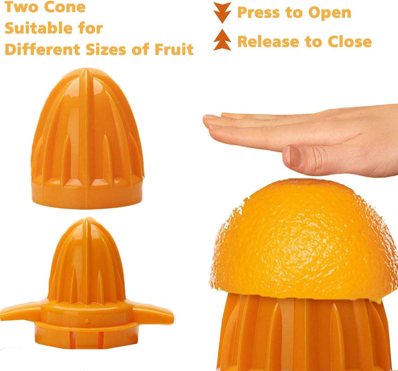 Electric Citrus Juicer, Large Capacity Auto Reverse Pulp Fresh Oranges, Lemons, Limes, Grapefruits etc for Healthy Juice