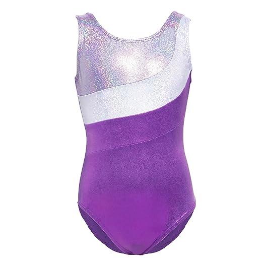 ca9380d9bb6c Amazon.com  Kids Sparkling Sleeveless Ballet Dance Gymnastic ...