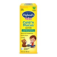 Cold Medicine for Kids Ages 2+ by Hyland's, Cold 'n Mucus Relief Liquid, Natural Relief of Mucus & Congestion, Runny Nose, Cough, 4 Ounces
