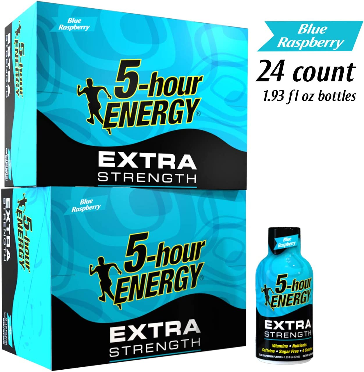 5-hour ENERGY Shot, Extra Strength Blue Raspberry, 1.93 Ounce, 24 count