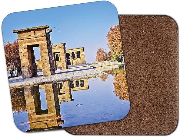 Posavasos con diseño del templo de Debod - Egipto Aswan Madrid España Viaje Cool Fun Gift #8921: Amazon.es: Hogar