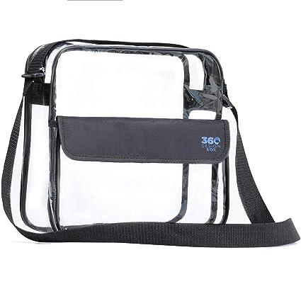 Amazon.com   360 DESIGN BOX Clear Cross-Body Messenger Shoulder Bag ... 8cae4b5da