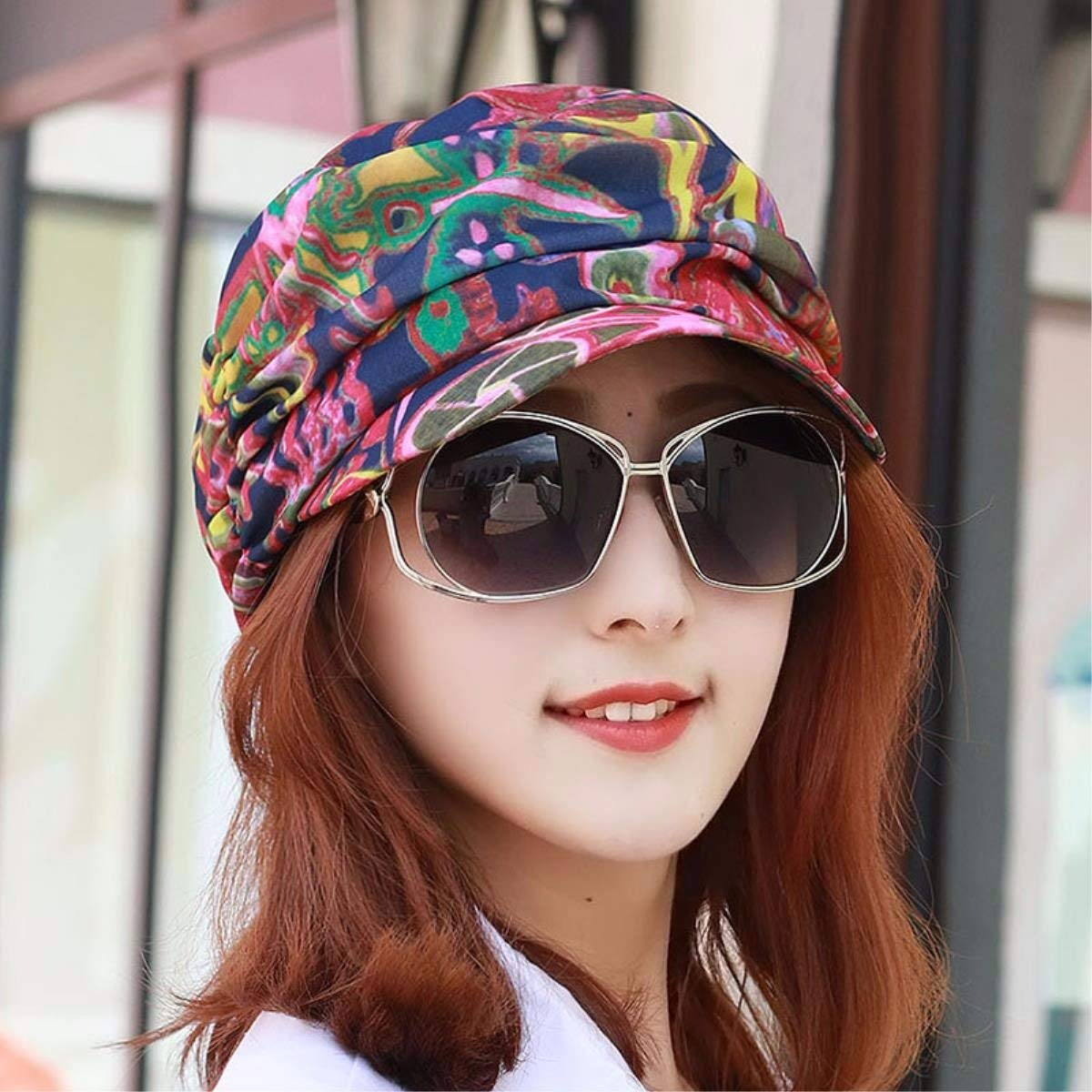 G BRNEBN Hat female spring and summer cap flat top hat visor beach hat sun cap out of play.