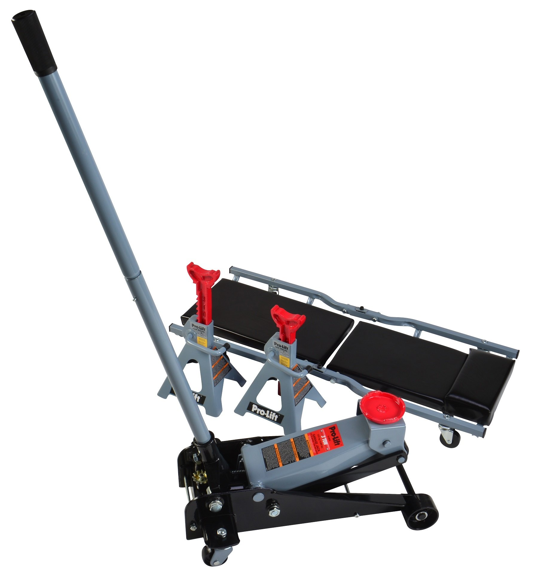 Pro Lift G-4630JSC 3 Ton Heavy Duty Floor Jack / Jack Stands and Creeper Combo - Great for Service Garage Home Uses by Pro-LifT (Image #2)