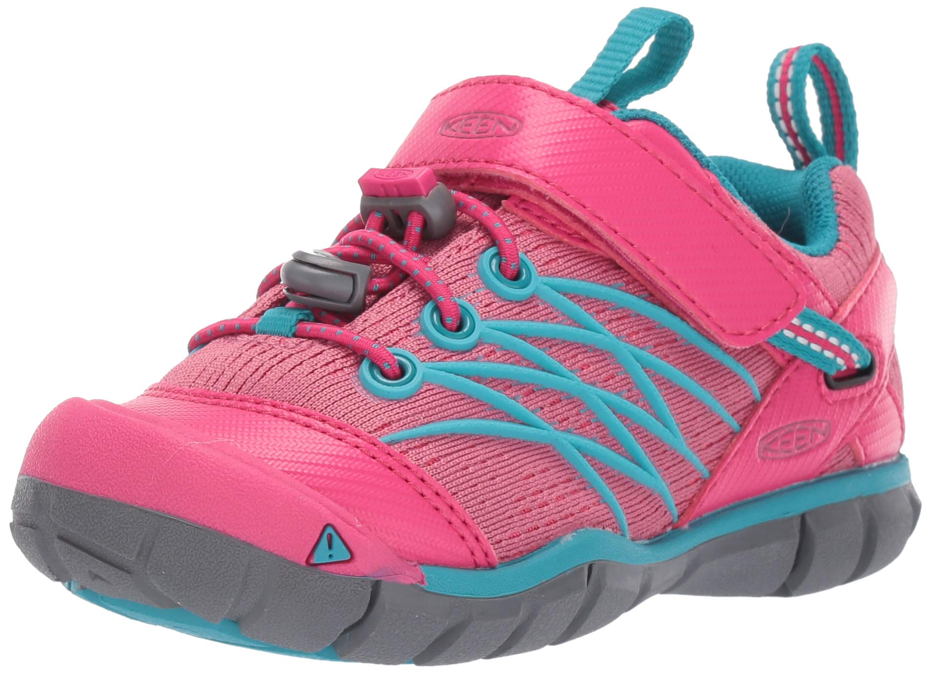 Keen Unisex Chandler CNX Hiking Shoe, Bright Pink/Lake Green, 10 M US Little Kid