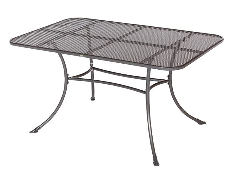 Tisch Rimini Gartentisch Streckmetall, eisengrau beschichtet, 145x90 cm