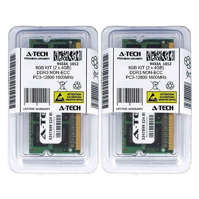Amazon.com: 4GB DDR3 PC3-8500 Laptop Memory Module (204-pin SODIMM, 1066MHz) Genuine A-Tech Brand: Computers & Accessories