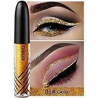Niome 1PCS 13 Color Waterproof Shimmer Eyeshadow Glitter Liquid Eyeliner Pencil Metallic Shine Makeup 01#Gold