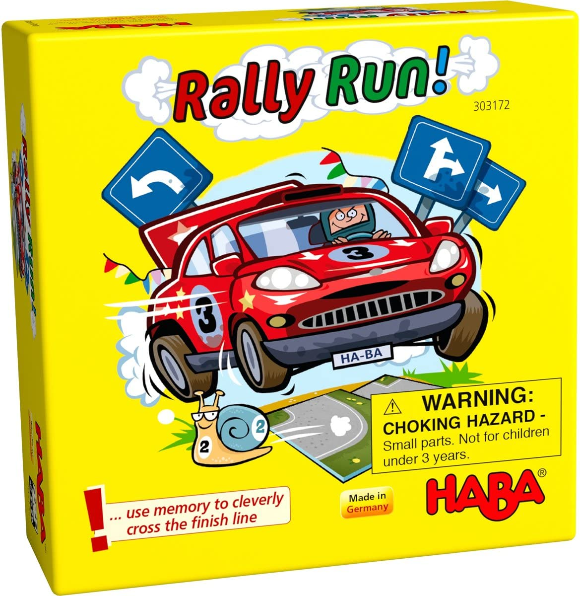 HABA RALLY RUN  - A TRICKY MEMORY MATCHING POCKET SIZED GAME FOR AGES 5+ (MADE IN GERMANY)