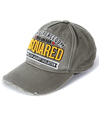 62611141b4244a Wiberlux Dsquared2 Men's Fight For Freedom Patch Embroidered Cap One Size  Olive