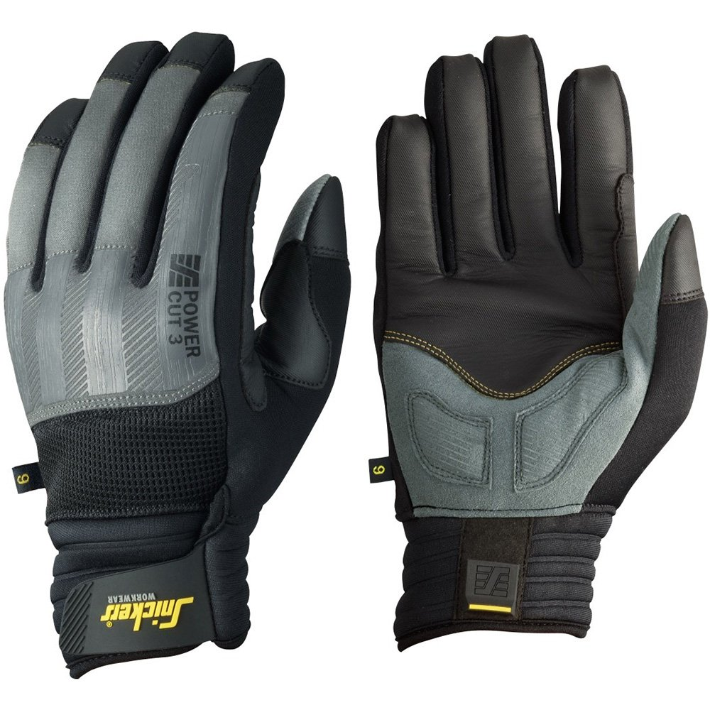 Snickers 95754804010''Cut 3'' Power Gloves, 10, Grey/Black