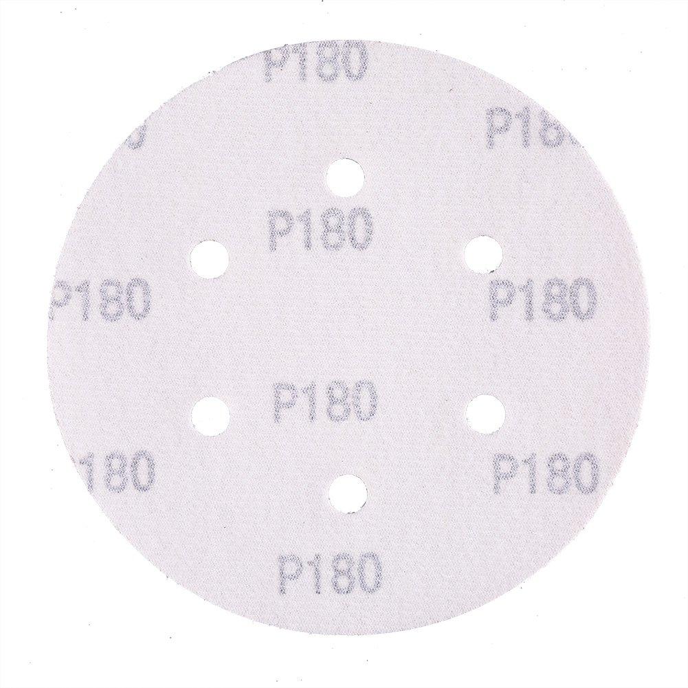 LotFancy Hook and Loop Orbit Sander Round Sand Paper 100PCS 40 60 80 100 120 180 240 320 400 800 Grit Sandpaper Assortment 6 Inch 6 Holes Sanding Disc