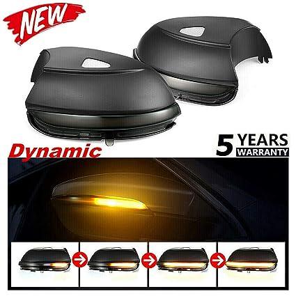 HDX Espejo retrovisor dinámico Intermitente LED indicador de luz ...