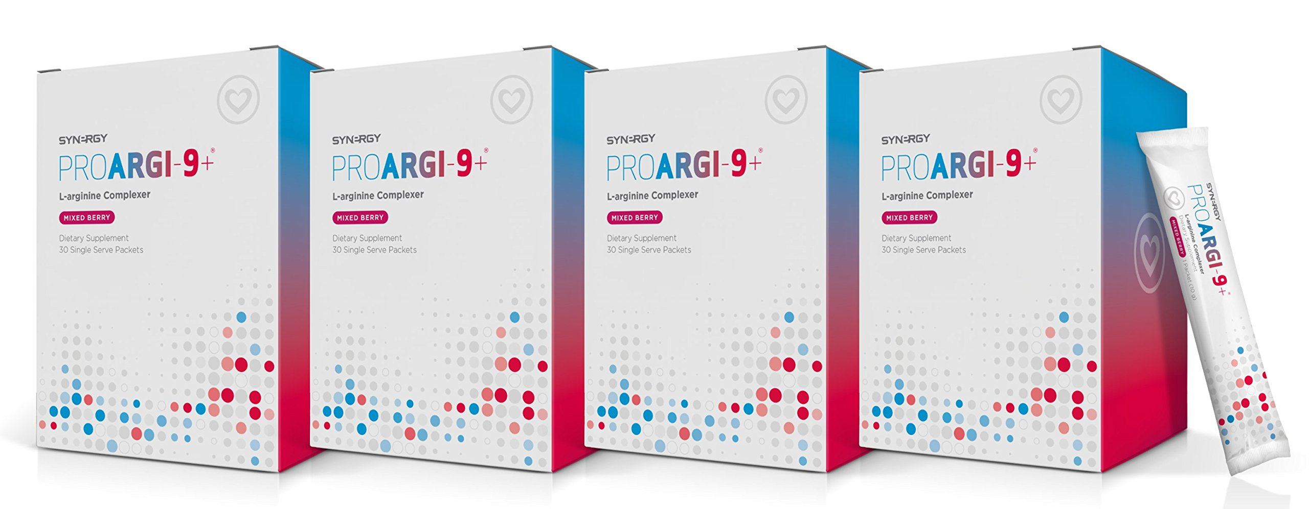 ProArgi 9 Plus Mixed Berry Single Serve (4) Boxes Pack Support Heart Health by Synergy (11.1 oz / 315g) by Unknown