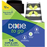 Dixie PerfecTouch 12oz Grab'n Go Cups & Lids, 14 Count