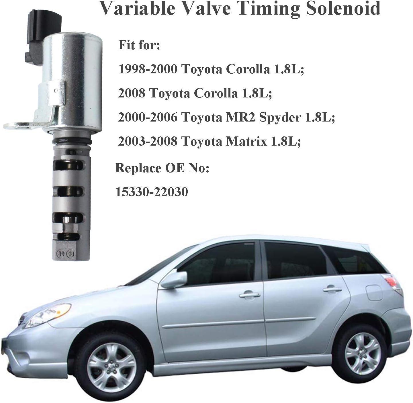 2003-2008 Toyota Matrix 2000-2005 Toyota MR2 Spyder 15330-22030 917-019 2000-2005 Toyota Celica VVT Solenoid For 1.8L Engines 2000-2008 Toyota Corolla BOXI Engine Variable Valve Timing