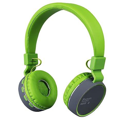 Auriculares inalámbricos para niños Auriculares Bluetooth plegables recargables Con limitación de volumen y puerto de 3,5 mm Tarjeta Micro SD para ...