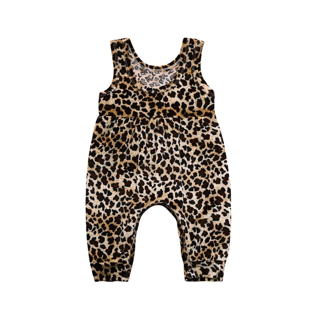 Fartido Romper Baby Girl Boy Leopard =Jumpsuit Playsuit Clothes Outfits Cotton