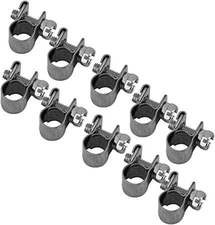 20 PCS 6-8mm FUEL INJECTION HOSE CLAMP AUTO Fuel clamps