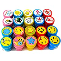 Oytra 20 Piece Stamps for Kids 10 Emoji and 10 Motivation Reward Pencil Top Stamp Gift for Teachers Students and Parents Toy