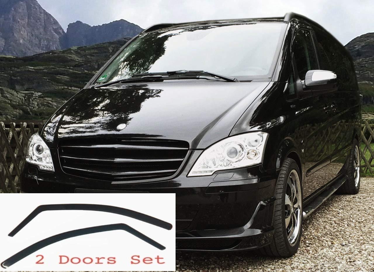 AC WOW Lot de 2 d/éflecteurs dair pour Mercedes Vito Viano V Classe W639 2003-2014 MK2 fum/ées fonc/ées en Verre Acrylique teint/é fum/é