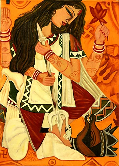 Tallenge Indian Art Painting Collection Durga Poster Collection Maa Durga Small Poster Paper 12 X 17 Inches