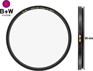 B W 86mm Ultraviolet Filter Multi Resistant Coated Camera Photo