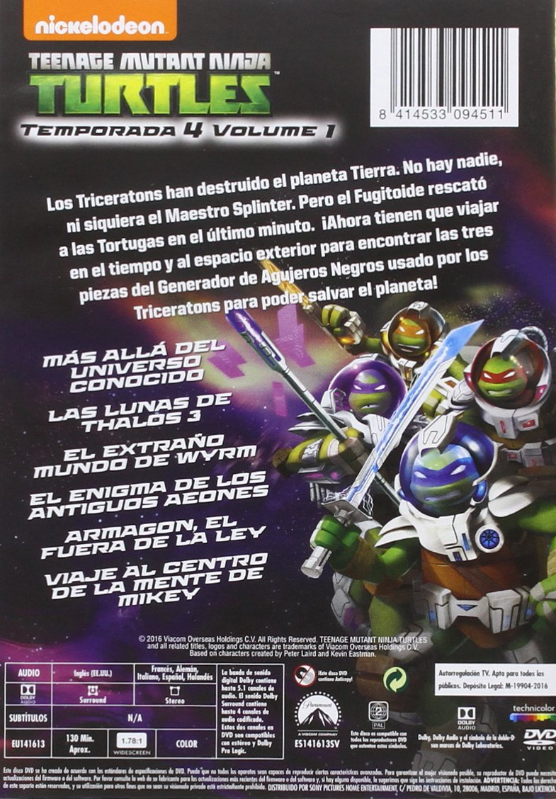 Teenage Mutant Ninja Turtles 4.1: Mas Allá Del Universo ...