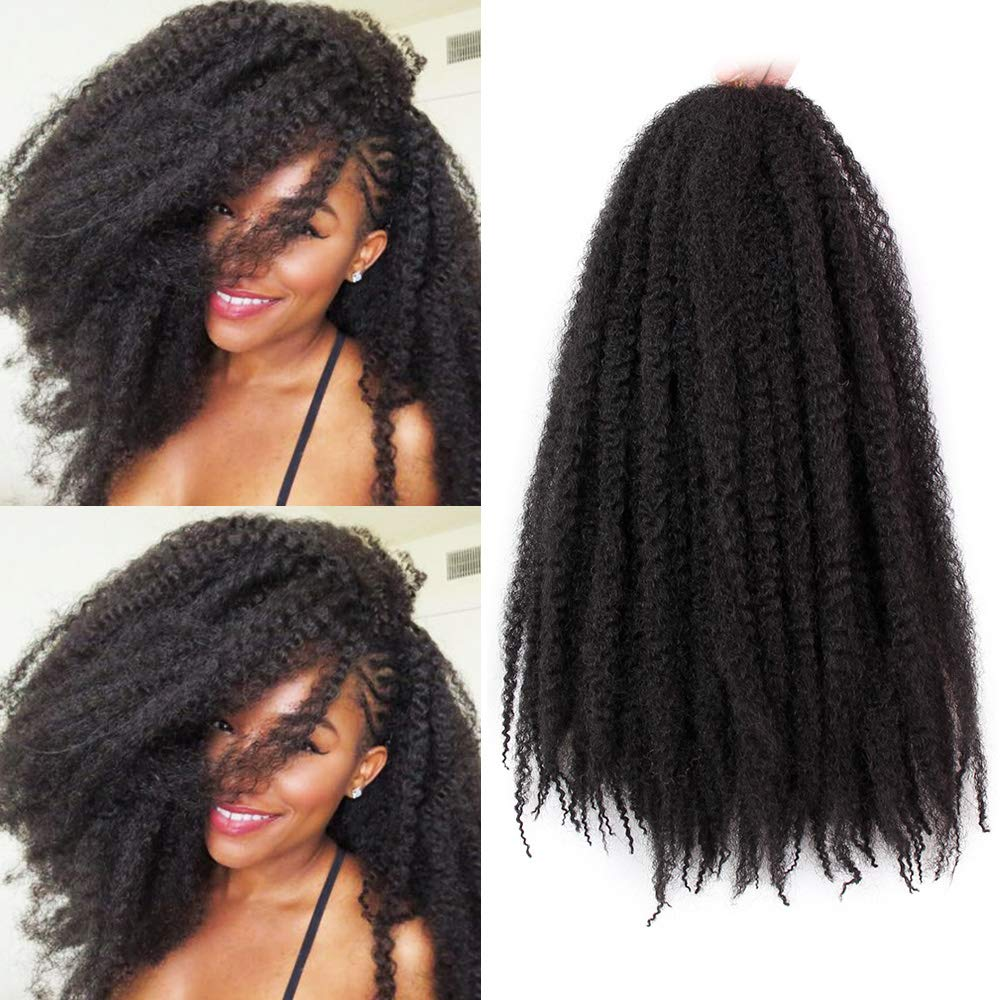 Amazon Com Marley Braiding Hair Synthetic Afro Kinky 3pcs Lot Marley Hair For Twists 18 Inch Marley Twist Braiding Hair Extensions 1b Beauty