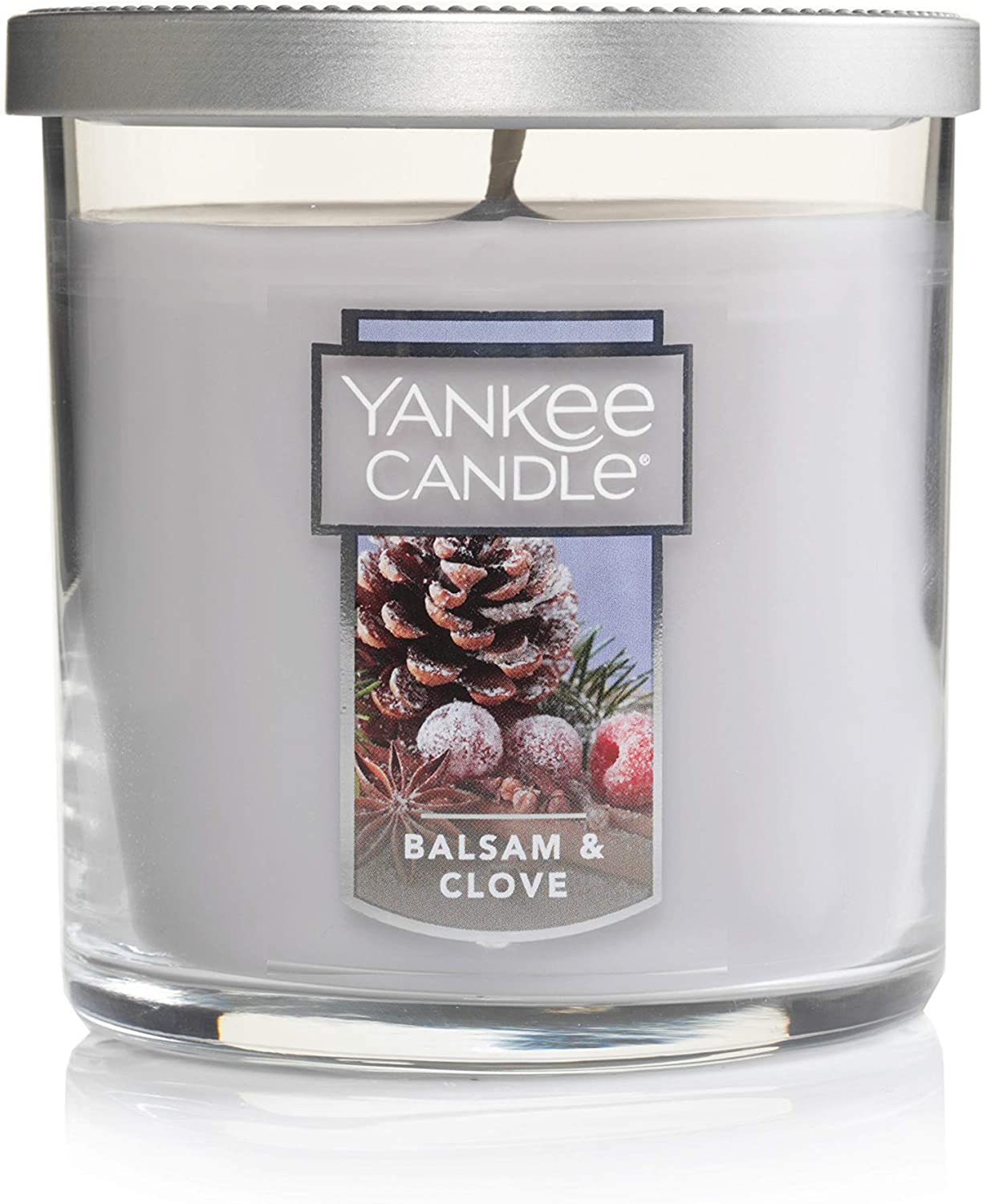 Yankee Candle Small Tumbler Jar Balsam/Clove Scented Premium Paraffin Grade Candle Wax with up to 55 Hour Burn Time