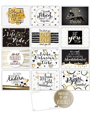 postkartenset sprüche 12 Spruchkarten   12 lustige Sprüche, Postkarten, Serie Gold mit  postkartenset sprüche