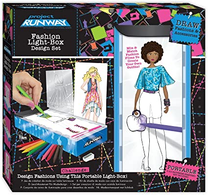 Amazon Com Project Runway Travel Fashion Design Light Box Toys Games