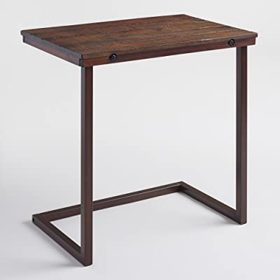 World Market Wood Laptop Table For Couch Recliner And Sofa   Slide Under  Couch Table Type