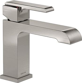 Delta Faucet Ara Single Hole Bathroom Faucet Brushed Nickel Single Handle Bathroom Faucet Stainless 567lf Sslpu Amazon Com