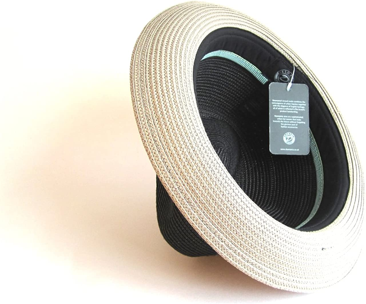 Dasmarca Mens Summer Crushable /& Packable Straw Fedora Hat