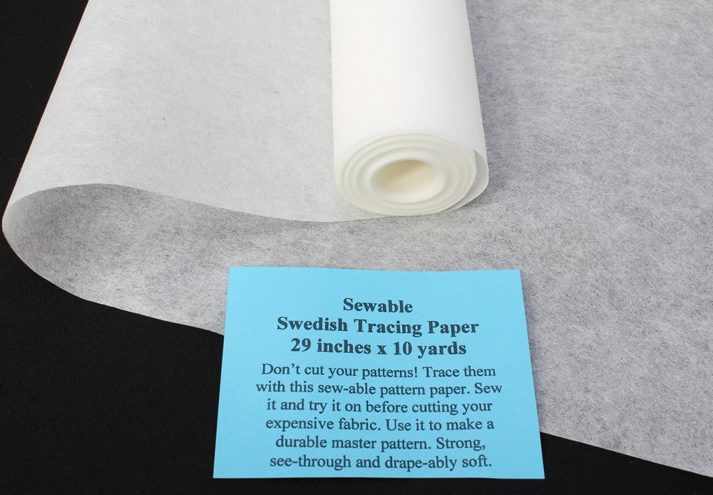 """10 Yards - 29"""" Wide Sew-able Swedish Tracing Pattern Paper (1907)"""