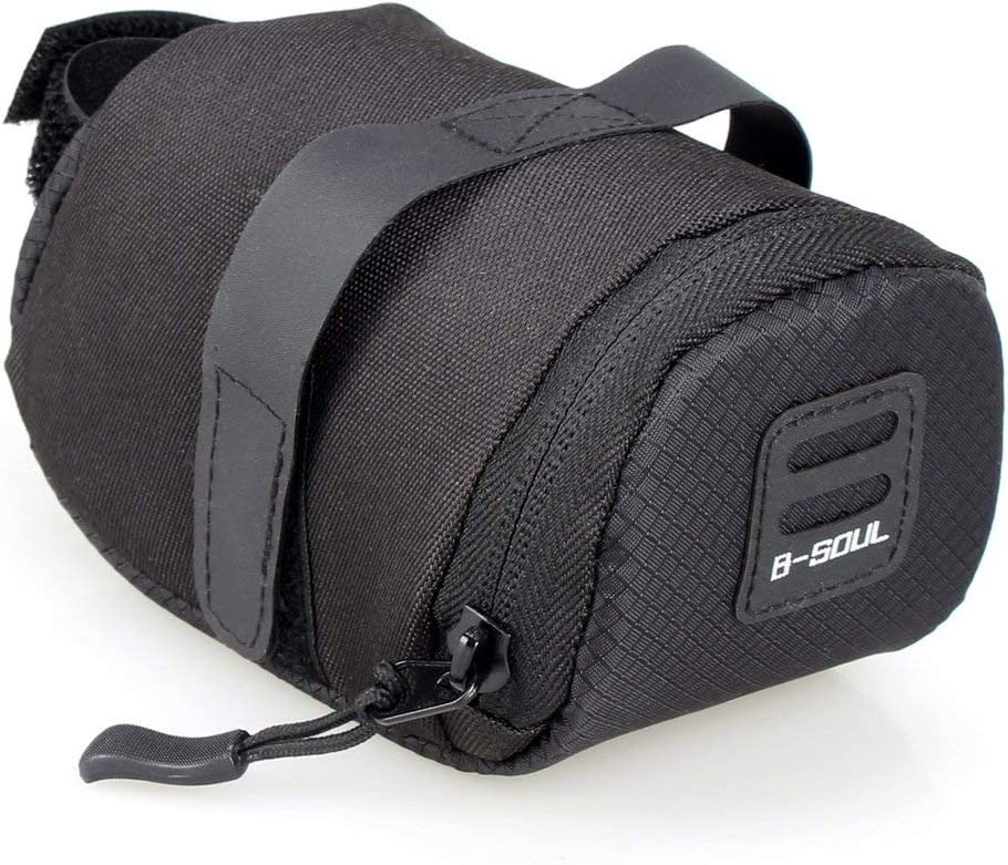 BIYI B-SOUL Waterproof Foldable Outdoor Cycling Accessories Mountain Road Bike Saddle Bag Bicycle Seat Bag Tail Rear Pouch Bag black