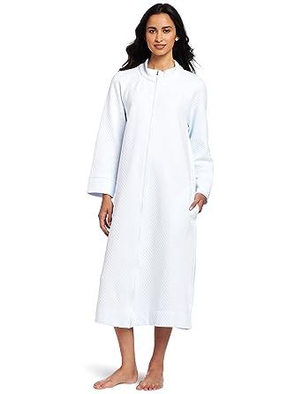 f64c01acd4dc Carole Hochman Women's Diamond Quilt Robe Sleepwear, Lake Blue, Large