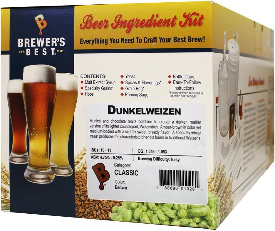 Brewer's Best - Home Brew Beer Ingredient Kit (5 gallon), (Dunkelweizen)
