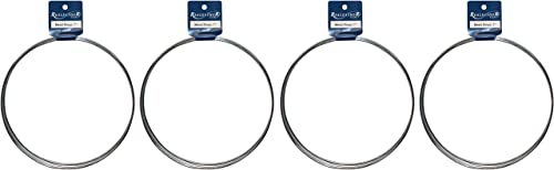 Realeather Crafts Zinc Metal Rings, 7-Inch, 3 pkg F ur k