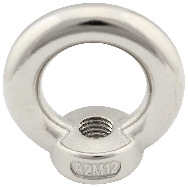 Ringmuttern V2A gegossen und poliert DIN 582 aus rostfreiem Edelstahl A2 2 St/ück SC-Normteile/® - /Ösenmuttern SC582 - /ähnl - M16 -