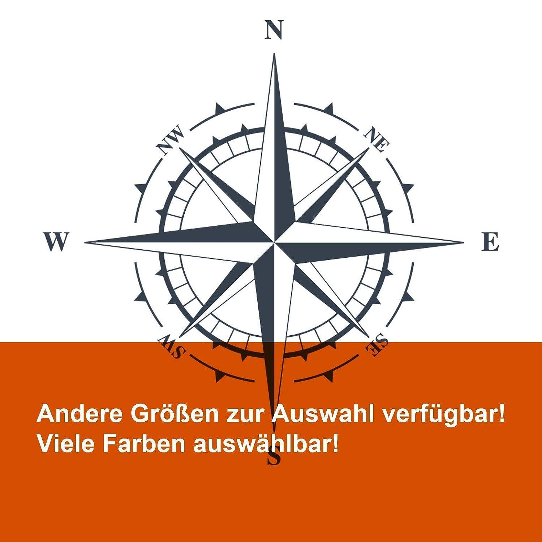 Windrose Aufkleber Kompass Ab 30 Bis 70cm Maritimer Sticker