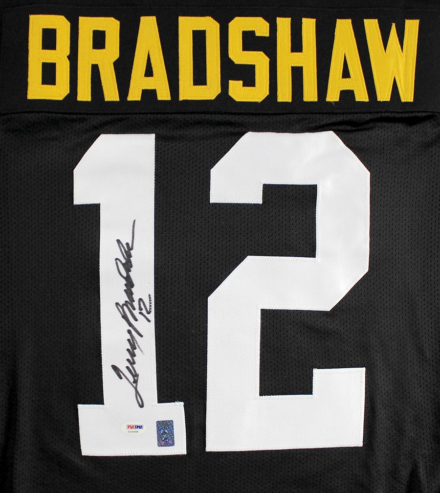 Terry Bradshaw Signed Autographed Pittsburgh Steelers Custom Black Jersey TRISTAR COA