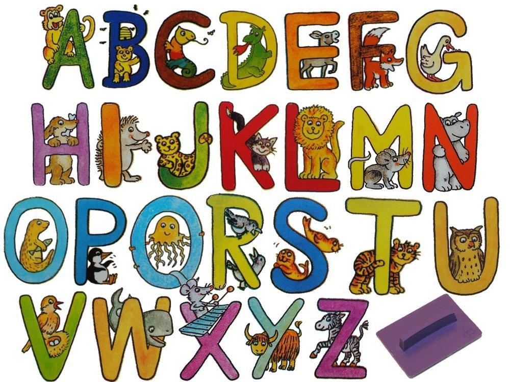 26 tlg. Set Stempel Buchstabe 3,3 cm hoch ABC A B C Bildstempel Motivstempel
