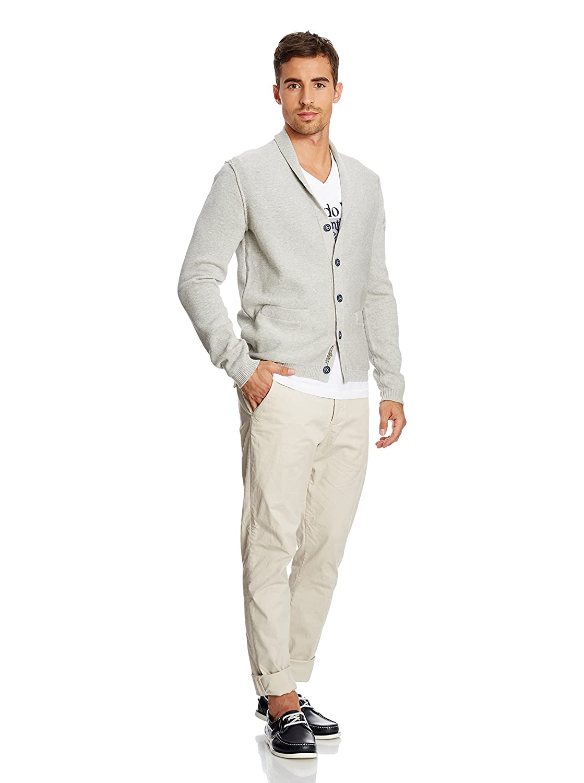 ARQUEONAUTAS Men's Cardigan Sweater Jacket NEW GREY MELANGE M?-?5XL