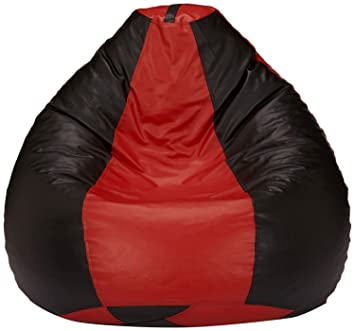Fine Buy Frnzgly Xxxl Bean Bag Cover Without Beans Red Black Machost Co Dining Chair Design Ideas Machostcouk